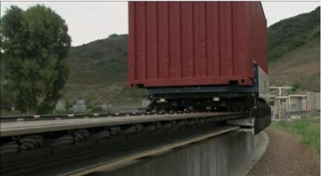 Container på maglevbana